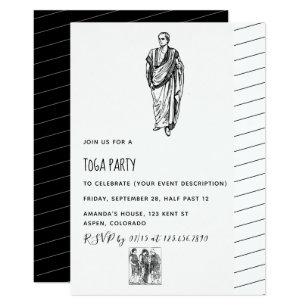 Toga party invitations announcements zazzle toga party theme invitation stopboris Images