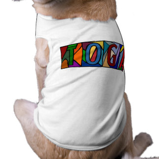 TOGA ~ PERSONALIZED BIG LETTERS PET-WARE FOR DOGS! T-Shirt