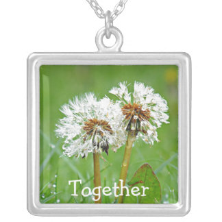 Together. Always Square Pendant Necklace