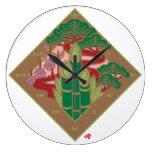 japan pine bamboo plum auspicious symbol pop cartoon 松竹梅 縁起 日本 japanese 吉兆 めでたい 和風 イラスト ポップ