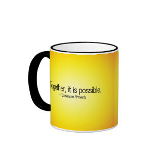 Together anything is possible ringer coffee mug