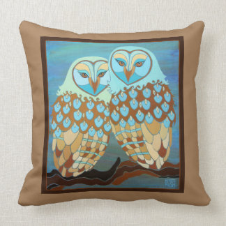 Together at Last Owl Throw Pillow 16x16