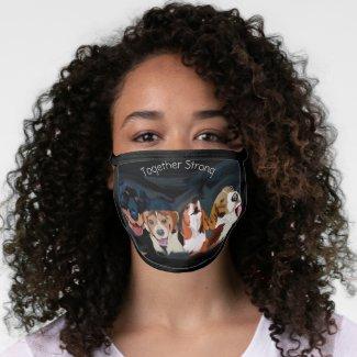 Together Black Cotton & Poly Blend Facemask Face Mask
