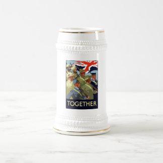 Together -- British Empire WW2 Beer Stein