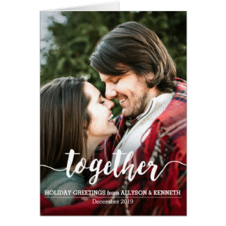 Together Couple Holiday Greetings Photo Template