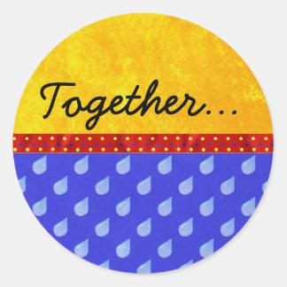 Together: Envelope Seals Classic Round Sticker
