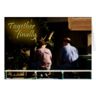 Together Finally Greeting Cards