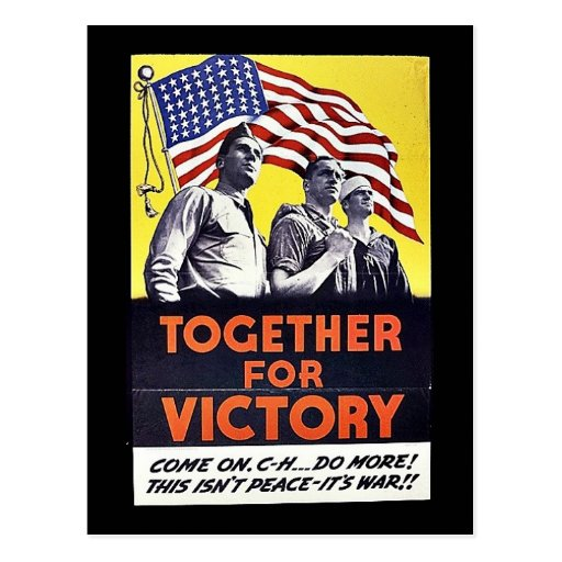 Together For Victory Post Card