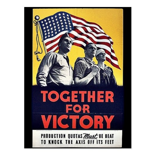 Together For Victory Postcard