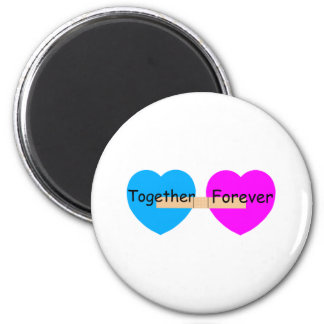 Together Forever Bandaide Hearts 2 Inch Round Magnet