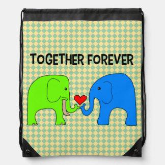 Together Forever Drawstring Backpack