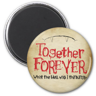 Together Forever Funny Vampire Magnet