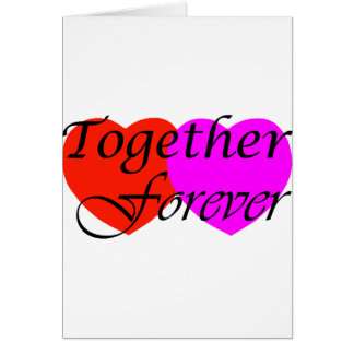 Together Forever Hearts Card