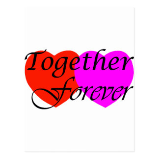 Together Forever Hearts Postcard