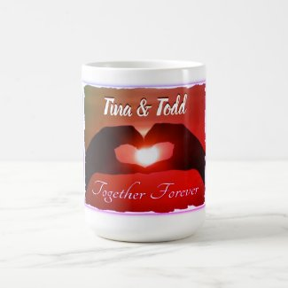 Together Forever Initialed Coffee Mug