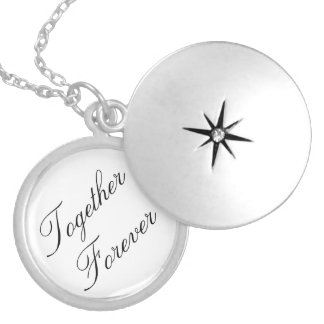Together Forever Medium Silver Plated Round Locket