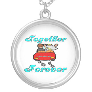 Together Forever Newlyweds Silver Plated Necklace