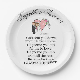Together Forever Paper Plate
