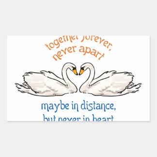 Together Forever Rectangular Sticker