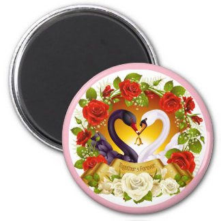 Together Forever Round Magnet