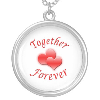 Together Forever Silver Plated Necklace