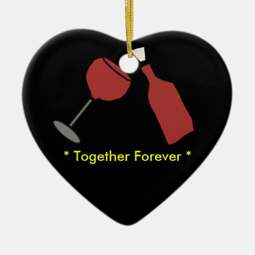 Together Forever Wine Christmas Ornament