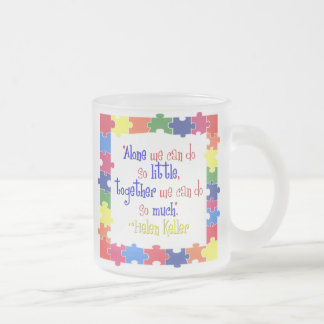 Together Frosted Glass Coffee Mug
