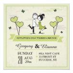 Together (Green) Post Wedding Brunch Invitation