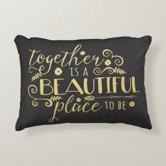 Together is a Beautiful Place to Be / Gold Pillow