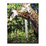 Together is Better-Giraffes Post Cards