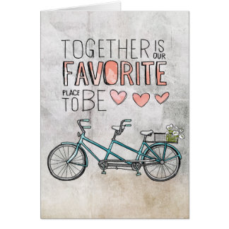 Together Is Our Favorite Place To Be | Blue Bike Card