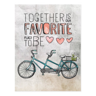 Together Is Our Favorite Place To Be | Blue Bike Postcard
