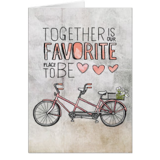 Together Is Our Favorite Place To Be | Pink Bike Card