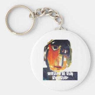 Together Basic Round Button Keychain