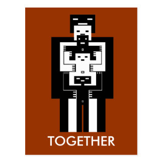 Together love will get us through postcard