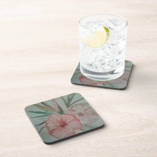 Together of passe-partout mountings tropical flowe drink coaster