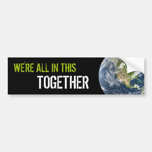 Together On Earth bumper sticker