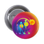 Together one in rainbow light pinback button