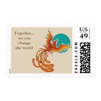 Together...phoenix bird postage