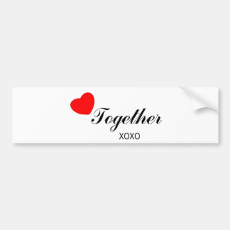 Together Products Car Bumper Sticker