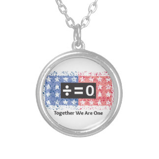 Together Small Silver Plated Round Necklace