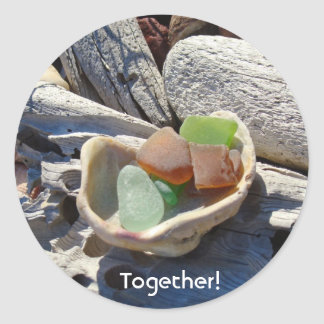 Together stickers Beach Coastal Seaglass Driftwood