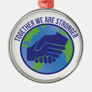Together Stronger Metal Ornament