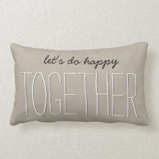 TOGETHER Text Design TAN Custom Sentiment A04 Lumbar Pillow