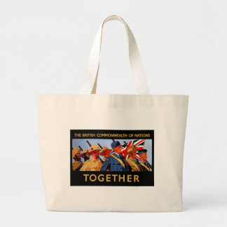 Together ~ The British Commonwealth of Nations Large Tote Bag