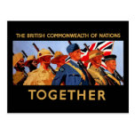 Together ~ The British Commonwealth of Nations Post Card