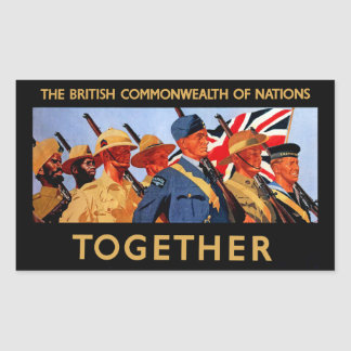 Together ~ The British Commonwealth of Nations Rectangular Sticker