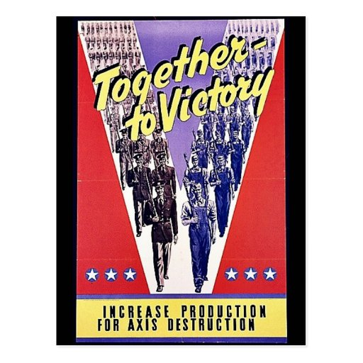 Together To Victory Post Cards