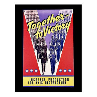 Together To Victory Postcard