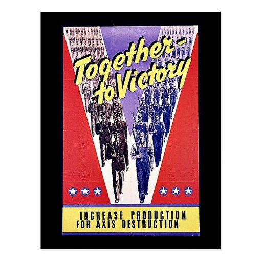 Together To Victory Post Card